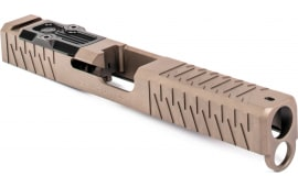 ZEV SLDZ174GESOC Enhanced Socom Slide compatible with Glock 17 Gen 4 17-4 Stainless Steel Flat Dark Earth