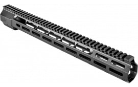 """ZEV HG308WEDGE16 Large Frame 308 Rifle Wedge Lock Handguard Aluminum Black Hard Coat Anodized 16.625"""""""