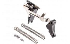 ZEV FULADJDRP4G9 Adjustable Fulcrum Drop-In Trigger compatible with Glock 17/19/26/34 Gen 4 6061-T6 Aluminum/Stainless Steel Black Hardcoat Anodized