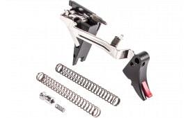 ZEV FULADJDRP4G9 Adjustable Fulcrum Trigger compatible with Glock 17/19/26/34 Gen 4 6061-T6 Aluminum/Stainless Steel Black/Red