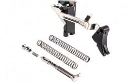 ZEV FULADJULT9BB Adjustable Fulcrum Ultimate Trigger Glock 17/17L/19/19C/26/34 Gen1-3 6061-T6 Aluminum/Stainless Steel Black Hardcoat Anodized