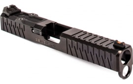 ZEV 174GESOCRMRDLC Enhanced Socom Slide Kit compatible with Glock 17 Gen 4 17-4 Stainless Steel/Aluminum Black