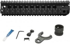 """Bravo QRF10556BLK BCMGunfighter AR-15 Quad Rail 10"""" 6061-T6 Aluminum Black Hard Coat Anodized"""