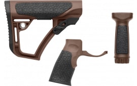 Daniel Defense 281020614501 Collapsible Buttstock/Pistol Grip/VFG AR-15 Glass Reinforced Polymer Brown