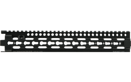 "Daniel Defense 0114702038 Keymod 12"" Slim Rail 6061-T6 Aluminum Black Hard Coat Anodized"