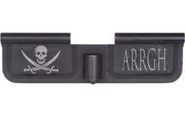 Spikes SED7003 Ejection Port Door AR-15 Laser-Engraved Pirate Steel Black Phosphate