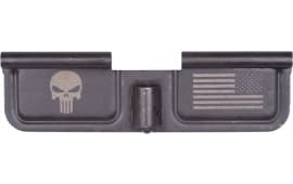 Spikes SED7005 Ejection Port Door AR-15 Laser-Engraved Punisher Steel Black