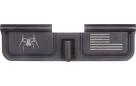 Spikes SED7010 Ejection Port Door AR-15 Laser-Engraved Spider Steel Black