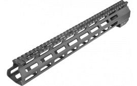 "Aim Sports MTM15H308 AR M-Lok Handguard Rifle 6061-T6 Aluminum Black Hard Coat Anodized High 15"""