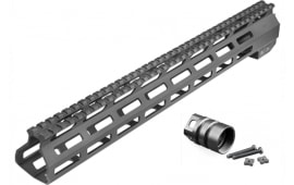 Aim Sports MTM13H308 AR M-Lok Handguard Rifle 6061-T6 Aluminum Black Hard Coat Anodized High 13.5""