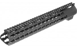Aim Sports MTK15L308 AR Keymod Handguard Rifle 6061-T6 Aluminum Black Hard Coat Anodized Low 15""