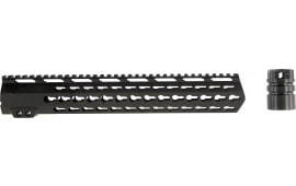 Aim Sports MTK13H308 AR Rifle Keymod Handguard 6061-T6 Aluminum Black Hard Coat Anodized 13.5""