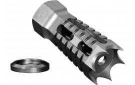 "Yankee Hill Machine 27-MB-A Annihilator Muzzle Brake 5.56mm Threaded 1/2""-28 TPI Steel Silver"
