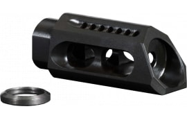 "Yankee Hill 26-MB-A Slant Muzzle Brake 5.56mm Threaded 1/2-28"" TPI Steel Black"