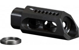 "Yankee Hill 3085-MBA Slant Muzzle Brake .30 Cal Threaded 5/8""-24 TPI Steel Black"