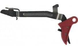 Polymer80 P80CPCTREDBL Glock Gen1-4 Compatible Curved Trigger 6061-T6 Aluminum Red/Black