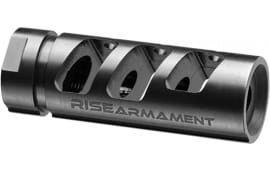 Rise Armament RA701308BLK AR10 Compensator 308/7.62 NATO 5/8x24 tpi 416 Stainless Steel Black Nitride