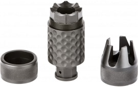 "Spikes SAKB0200 Barking Spider2 Muzzle Brake 30 Cal 3.75"" L 5/8x24 tpi 4140 Chromoly Steel Black Nitride"