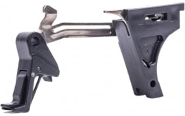 CMC Triggers 71402 Glock Trigger Kit Flat Glock 42 Gen 4 380 ACP 8620 Steel Black