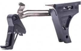 CMC Triggers 71502 Glock Trigger Kit Flat Glock 43 Gen 4 9mm 8620 Steel Black