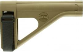 "SB Tactical SOB-02-SB AR Brace SOB Elasto-Polymer FDE 7.8"" L x 1.6"" W"