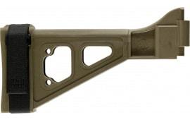 "SB Tactical SBT-02-SB Specialty Brace SBT B&T APC/HK UMP Elasto-Polymer FDE 9.5"" L x 1.25"" W"