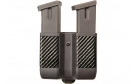 "Blackhawk 410610CBK Double Magazine Case Double Stack 9mm/40 Cal/45 Cal/357Sig Up to 2.25"" Carbon Fiber Black"