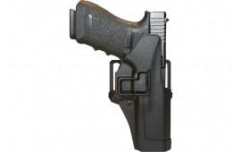 Blackhawk 410530BKR Serpa CQC Concealment RH Matte Finish 0 Glock 29/30/39 Polymer Black