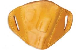 Bulldog MLTS Belt Slide Small Automatic Handgun Holster Right Hand Leather Tan