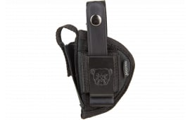 "Bulldog FSN7 Extreme Pistol Belt Loop & Clip Sz 7 2-4"" Barrel Standard Auto Nylon Black"
