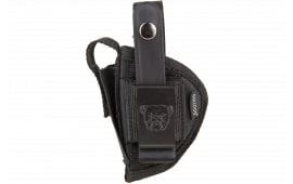 Bulldog FSN11 Extreme Revolver Belt Loop & Clip Sz 11 Taurus Public Defender Nylon Black
