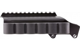 TacStar 1081035 Shotgun Rail Mount with SideSaddle 6 Rounds 12GA Rem 870/1100/11-87 Black Aluminum/Rubber