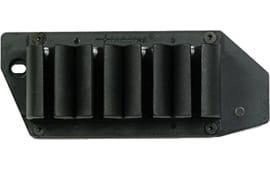 TacStar 1081130 SideSaddle #4 Shot Shotshell Carrier 20GA Rem 870/1100/11-87 Black Polymer/Aluminum