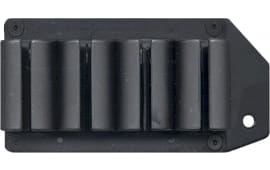 TacStar 1081167 SideSaddle #4 Shot Shotshell Carrier 12GA Moss 500/590 Black Polymer/Aluminum