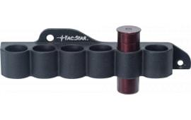 TacStar 1081210 Slimline SideSaddle Shotshell Carrier #6 Shot 12GA Mossberg 500/590 Black Aluminum/Rubber
