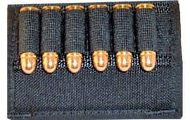 Grovtec US Inc GTAC85 Cartridge Slide Holder Any Handgun Ammo Black Elastic/Nylon