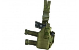 NCStar CVDLHOL2954G Drop Leg Universal Holster Green Semi-Auto Pistols PVC Fabric Green