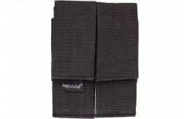 Bulldog Wmagl Double Magazine Holder w/Belt Loop Velcro-Close Nylon Black