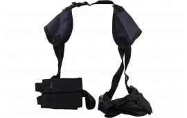 """Bulldog WSHD8 Deluxe Shoulder Harness Fits Most Large Frame Autos w/3.5""""-5"""" Barrel Beretta; Browning; Colt; CZ; Glock; Ruger; S&W Nylon Black"""
