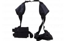 "Bulldog WSHD7 Deluxe Shoulder Harness Fits Most Standard Autos w/2-4"" Barrel Beretta; Glock; HK; Sig; S&W Nylon Black"