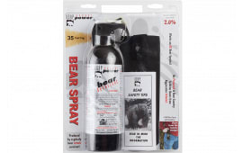Udap 18HP Super Magnum Bear Spray w/ Hip Holster 13.4oz/380g Up to 35 Feet Black