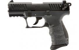 "Walther P22Q .22LR 3.4"" Semi-Auto Pistol, 10 Round, Tungsten Gray Polymer Frame With Black Slide  Model 5120765"