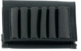 Uncle Mikes 8848 Rifle Buttstock Flap Shell Holder 6 Loop Nylon Black