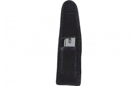 """Uncle Mikes 8832 Universal Single Mag/Knife Pouch 9mm/40 S&W, Single Row 10mm/45ACP Metal Mag Up to 2.25"""" Cordura Nylon Black"""