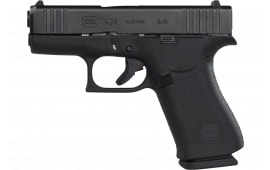 Glock PX4350201 43X Semi-Auto 9mm Pistol, FS, 10 Round Black Frame, Black Slide, Slimline