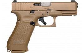 "Glock UX1950703 19X Crossover 4.02"" 17+1 Bronze Nitron Coyote Interchangeable Backstrap Grip"