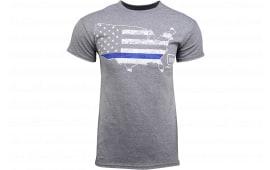 Glock AP95691 Blue Line Patriot Tshirt Grey 3XLRG