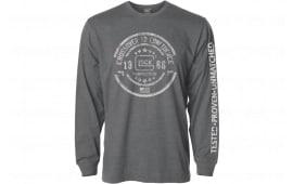 Glock AP95795 Crossover Long Sleeve Gray Large