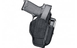 """Uncle Mikes 70150 Sidekick Hip Holster with Mag Pouch 3.75-4.5"""" Barrel Large Auto Nylon Black"""