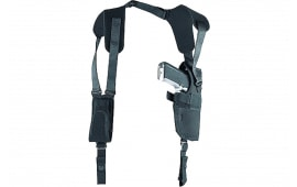 """Uncle Mikes 83031 Sidekick Vertical Shoulder Holster Fits Chest up to 48"""" 5-6.5"""" Barrel M/L Double Action Revolver Nylon Black"""